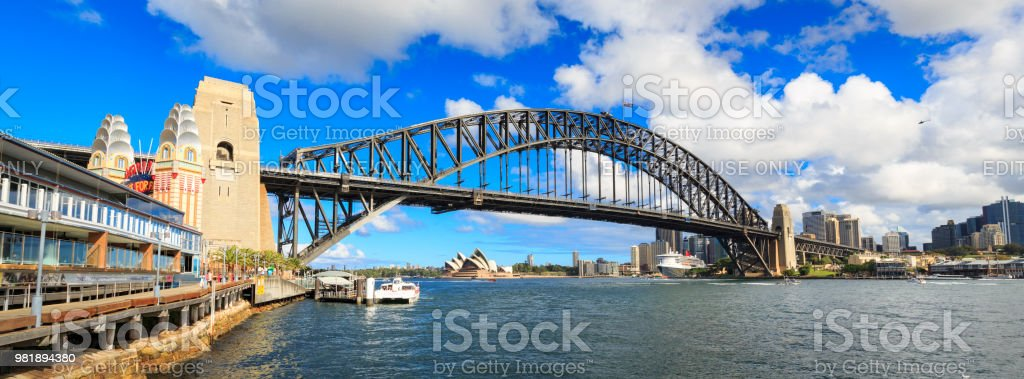 Sydney Harbour Bridge and Sydney Opera House, Australia stock photo