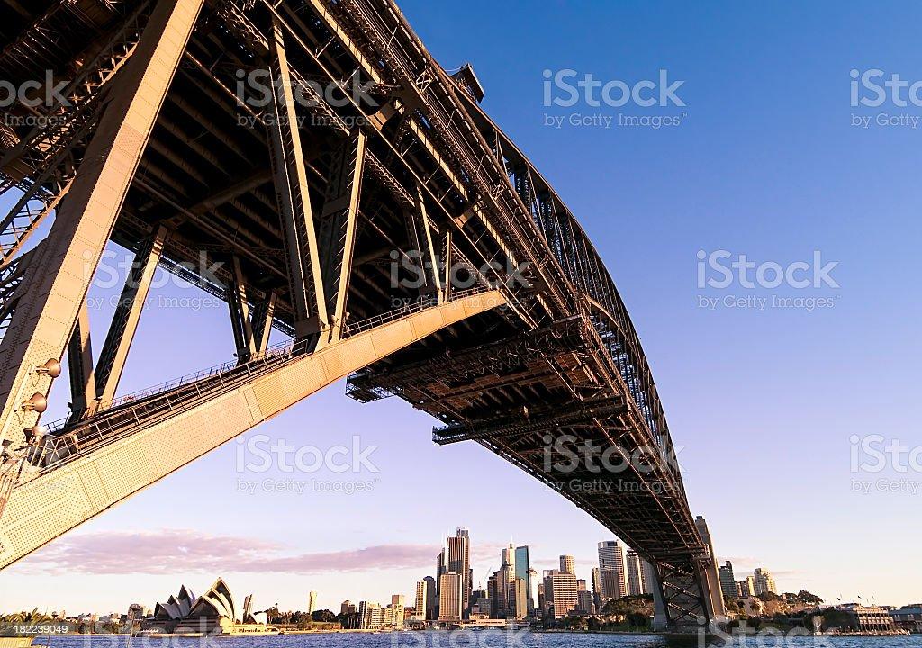 Sydney Harbour Bridge at Sunset royalty-free stock photo