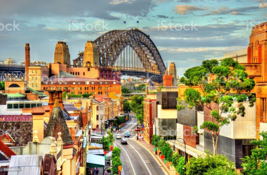 Sydney Harbour Bridge, built in 1932. Australia stock photo