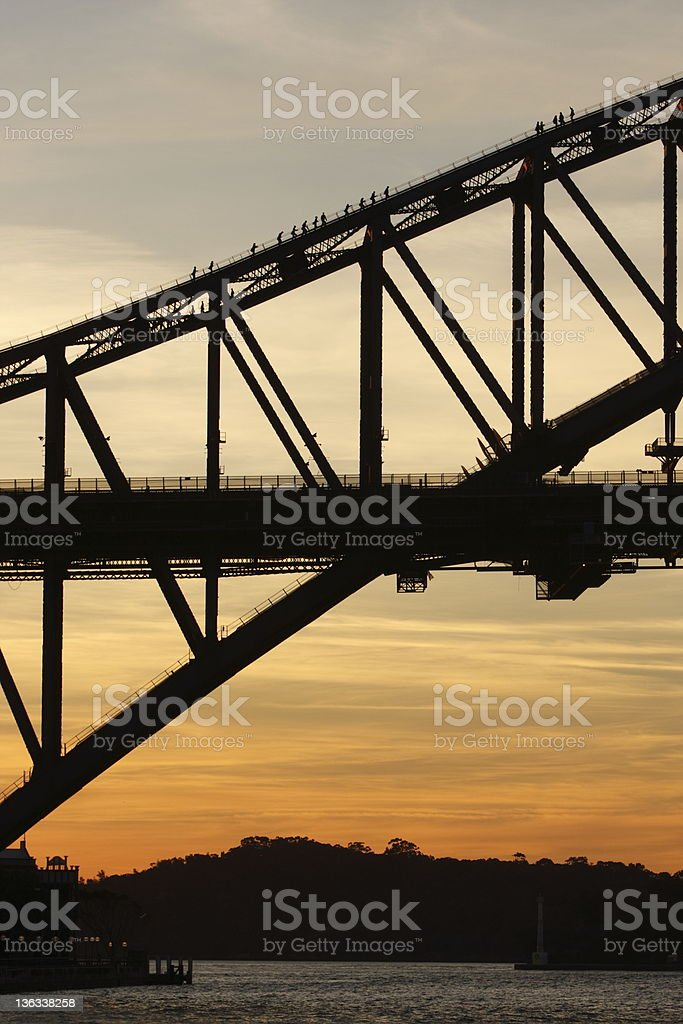 Sydney Harbour Bridge Climb royalty-free stock photo