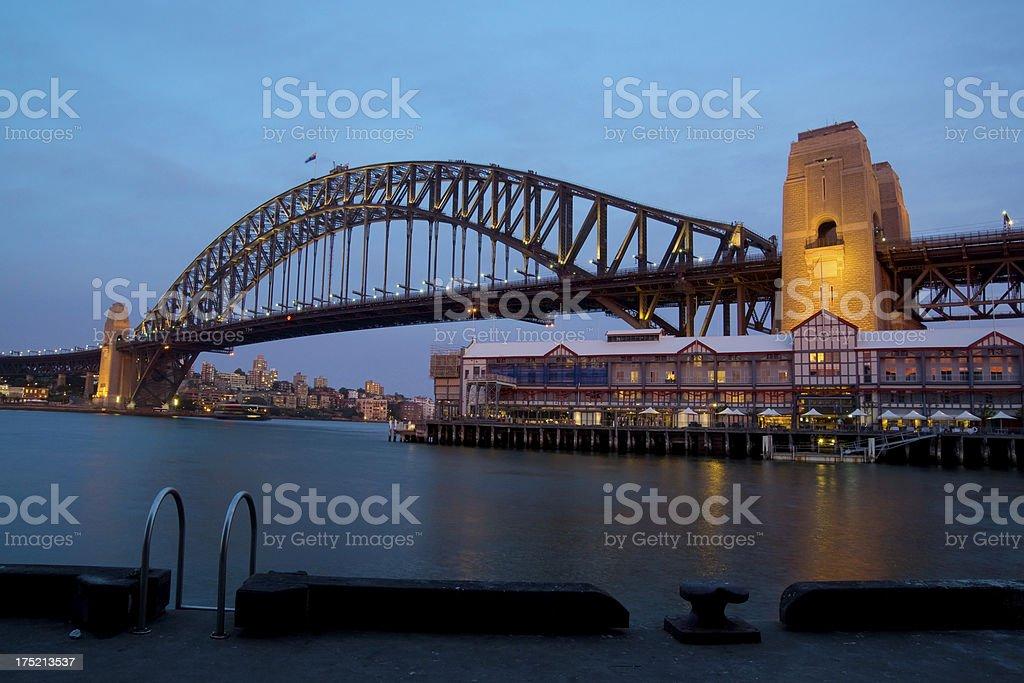 Sydney Harbour Bridge from Walsh Bay (XXXL) stock photo