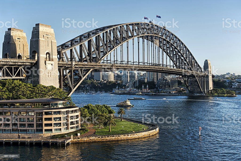 Sydney Harbour Bridge in daytime stock photo