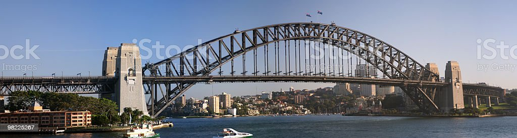 Sydney Harbour Bridge Morning Panorama (XXL High Resolution) royalty-free stock photo