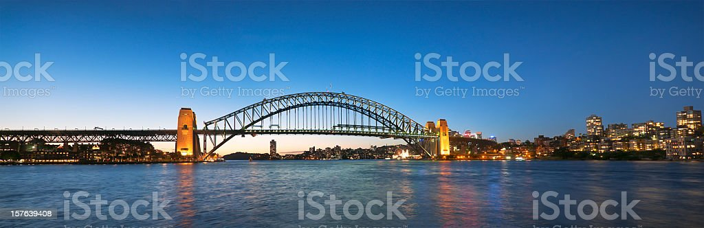 Sydney Harbour Bridge Panorama royalty-free stock photo