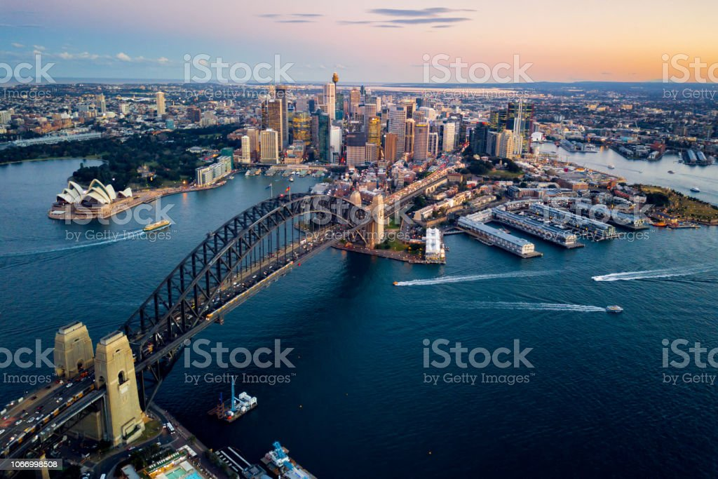 Sydney Harbour Bridge Sydney Harbour Bridge Architecture Stock Photo