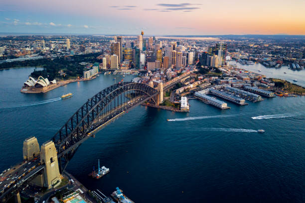 sydney harbour bridge - music style stock pictures, royalty-free photos & images