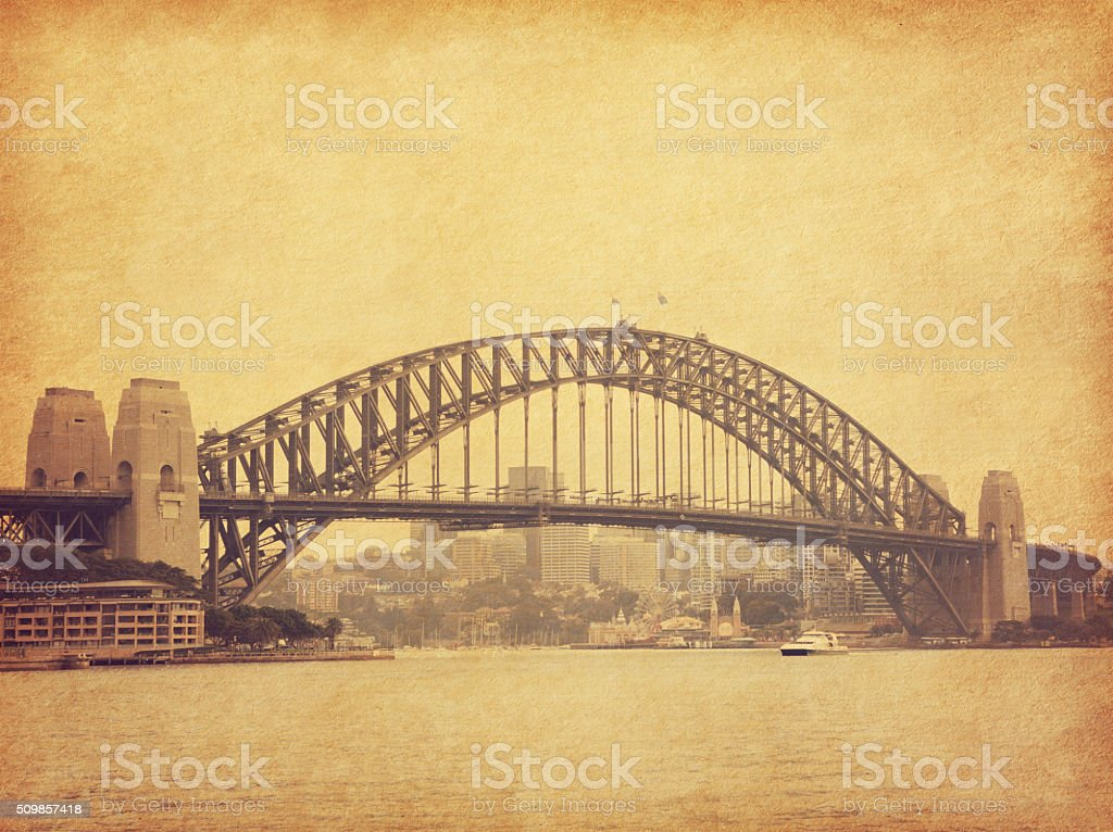 Sydney Harbour Bridge. stock photo