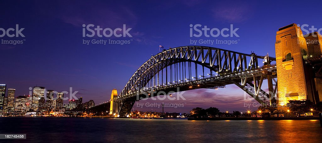 Sydney Harbour Bridge Skyline royalty-free stock photo
