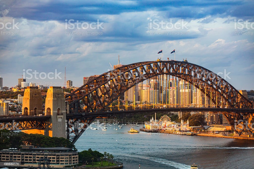 Sydney Harbour Bridge Sunset stock photo
