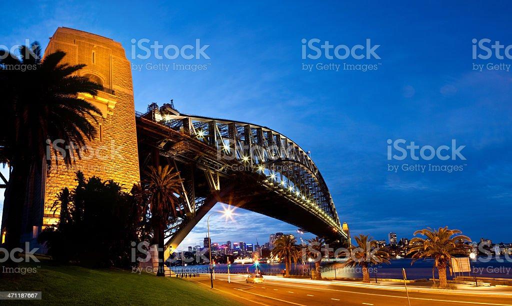 Sydney Harbour Bridge Twilight Panorama royalty-free stock photo
