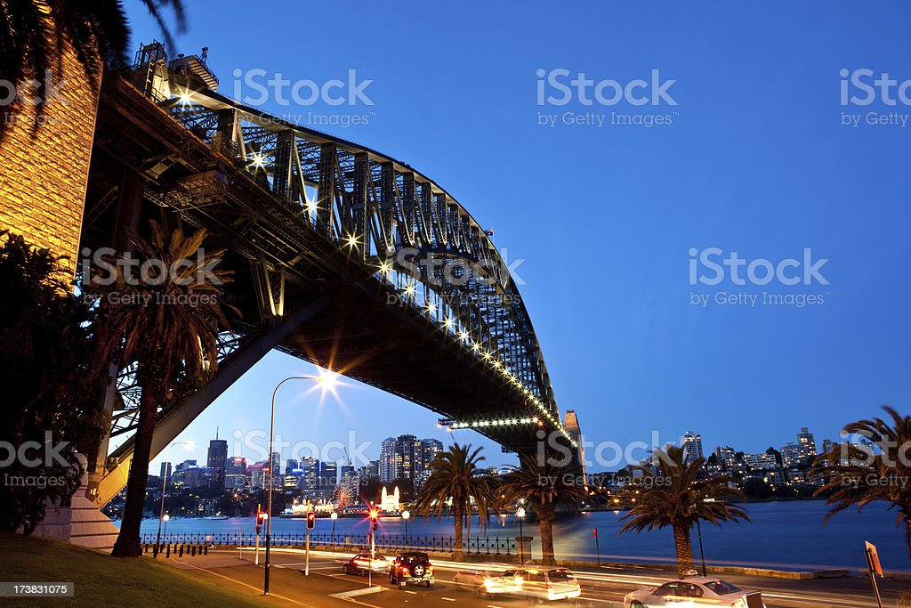 Sydney Harbour Bridge Twilight royalty-free stock photo