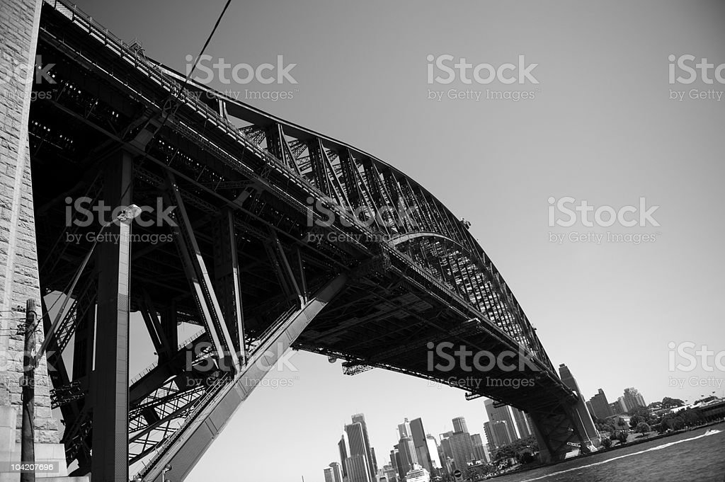 Sydney Harbour Bridge-B/W (XLarge) royalty-free stock photo