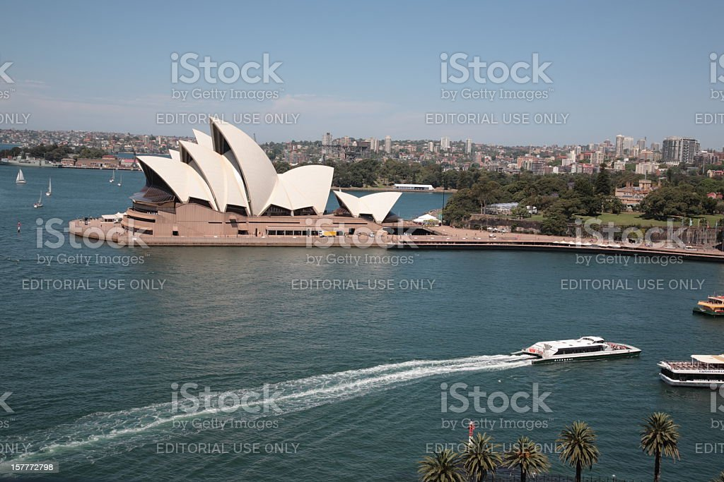 Sydney Harbour opera house royalty-free stock photo