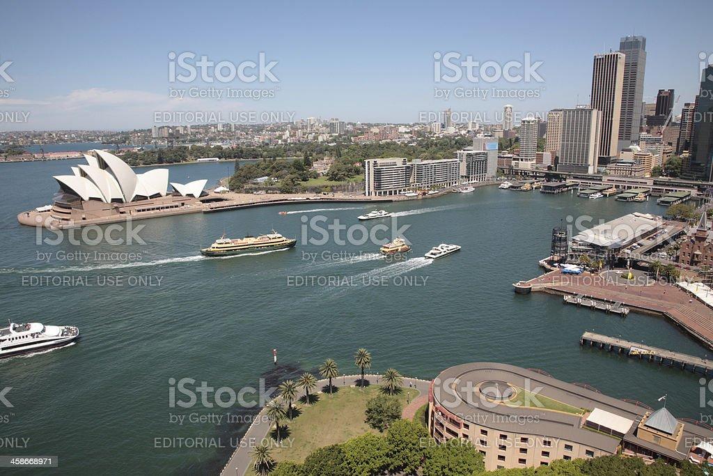Sydney Harbour opera house royalty-free stock photo