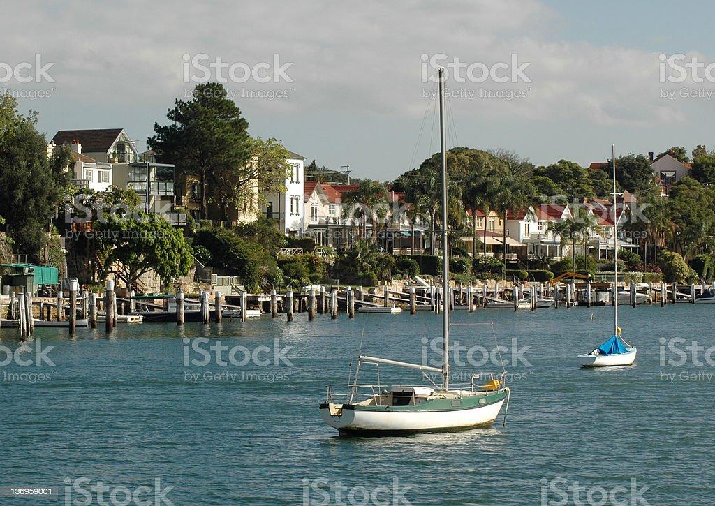 Sydney Harbour Shoreline royalty-free stock photo