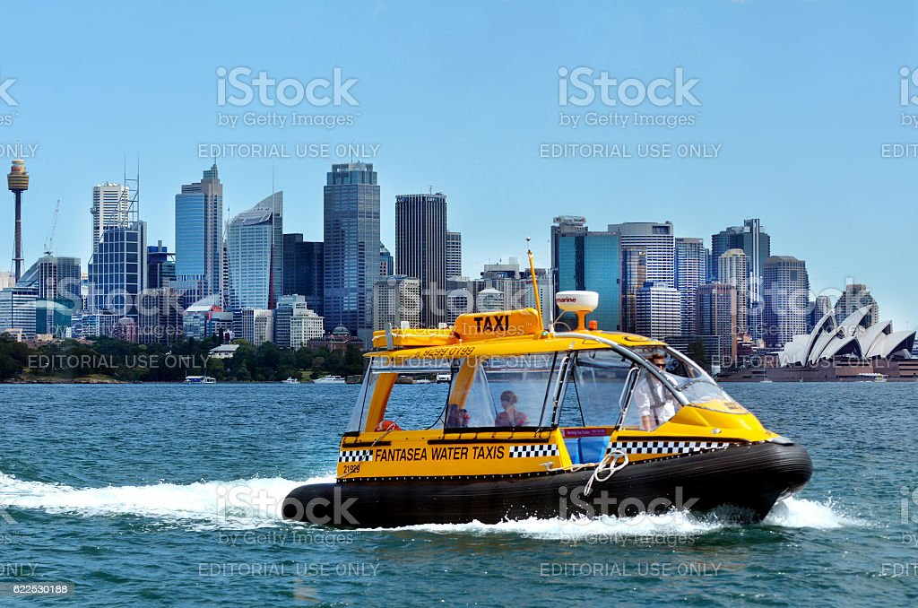Sydney Harbour Water Taxis Sydney Australia New South Wales NSW stock photo