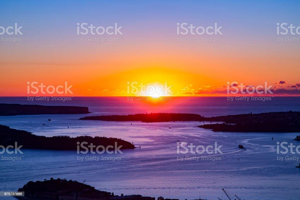 Sydney Heads Sunrise stock photo