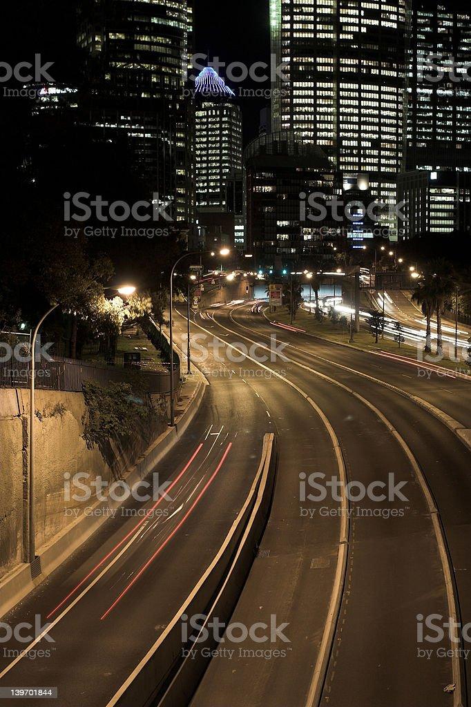 Sydney Highway at Night royalty-free stock photo