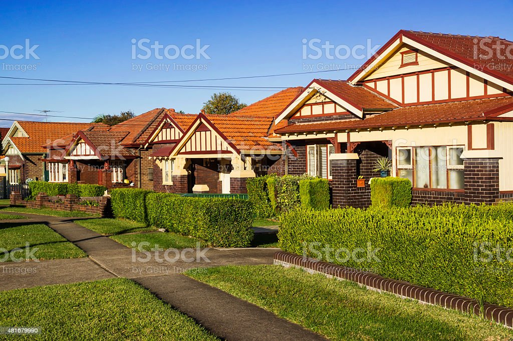 Sydney Houses (in Inner West) stock photo