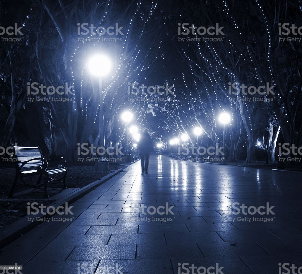 Sydney - Hyde Park at Night royalty-free stock photo