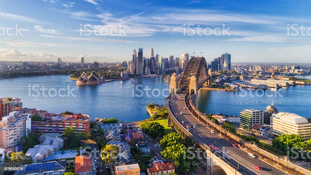 D Sydney Kirribilli HWY Br CBD stock photo