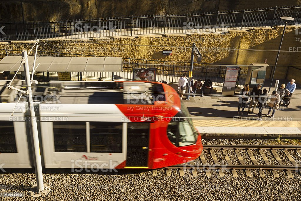 Sydney Light Rail stock photo