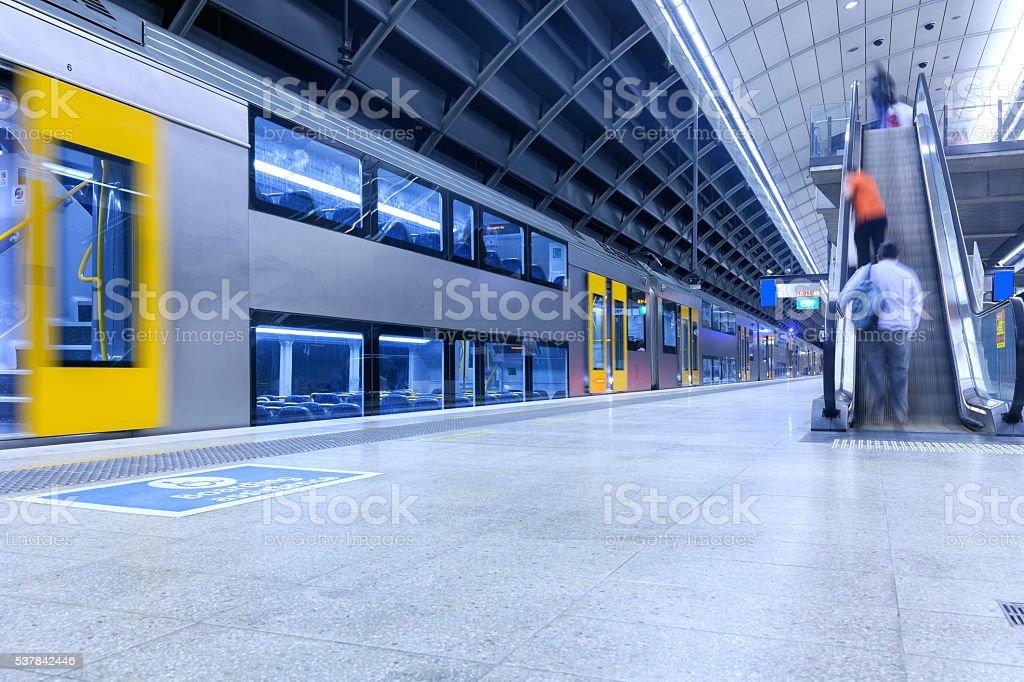 Sydney metro station stock photo