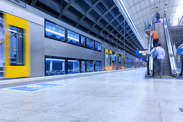stazione della metropolitana di sydney - subway foto e immagini stock