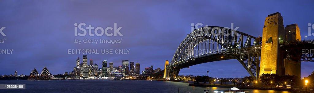 Sydney Night Panorama royalty-free stock photo