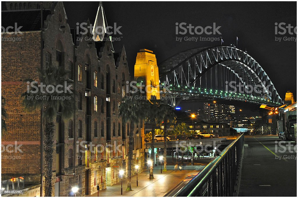 Sydney Night Scene stock photo