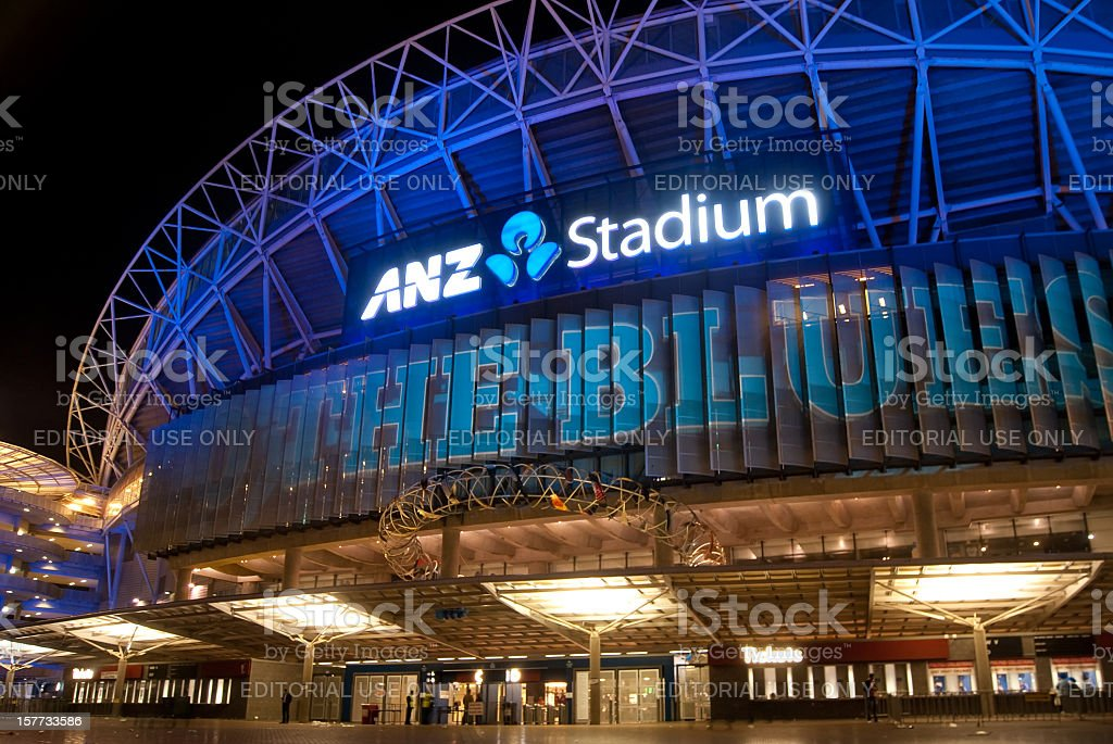 Sydney Olympic Park - ANZ Stadium (Go The Blues) stock photo