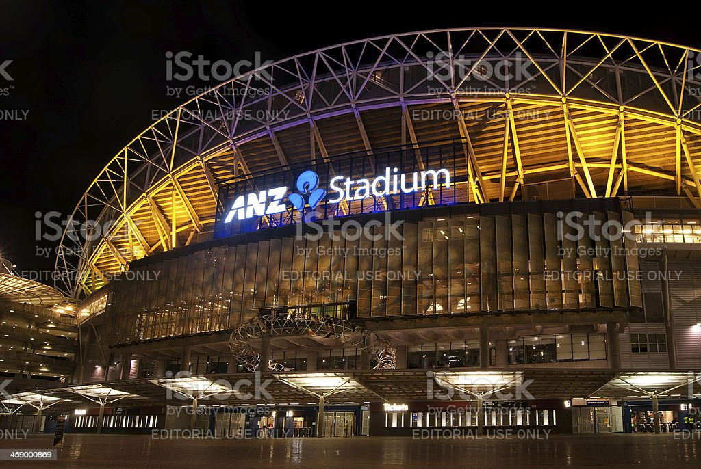 Sydney Olympic Park - ANZ Stadium (Bledisloe Cup 2012) stock photo