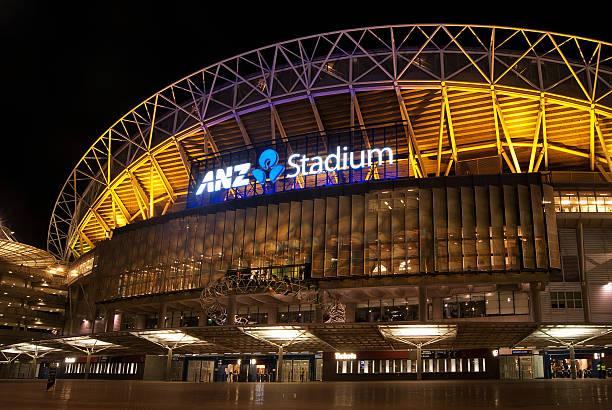 Sydney Olympic Park - ANZ Stadium (Bledisloe Cup 2012) stock photo