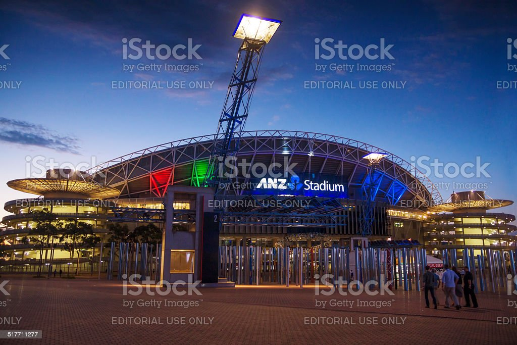 Sydney Olympic Park - ANZ Stadium (NRL Grand Final) stock photo