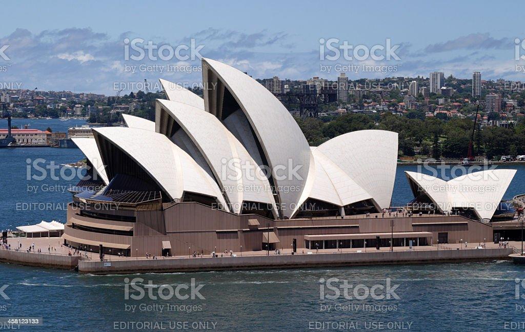 Sydney Opera House and City royalty-free stock photo