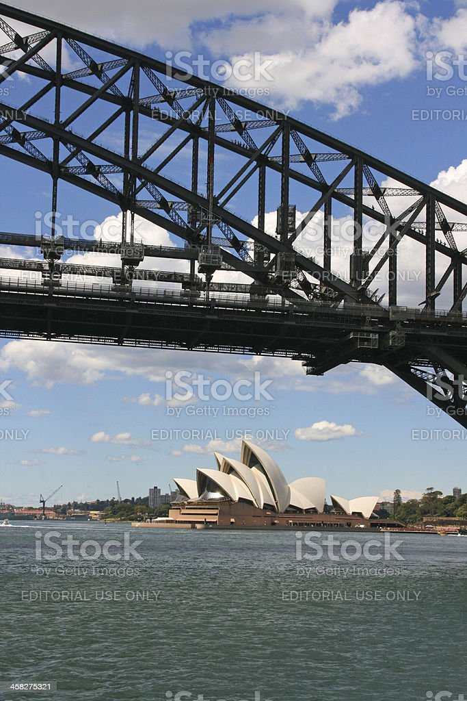 Sydney Opera House and harbour bridge, Australia royalty-free stock photo