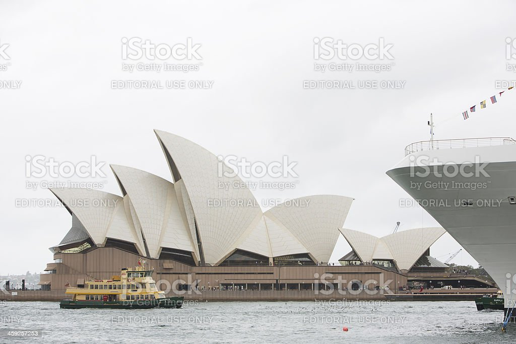 Sydney Opera House and Inner Harbour Ferry royalty-free stock photo