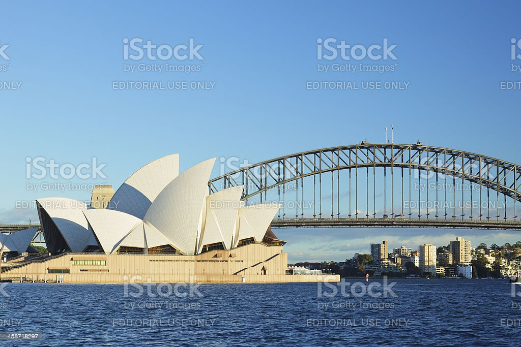 Sydney Opera House and the Harbor Bridge stock photo