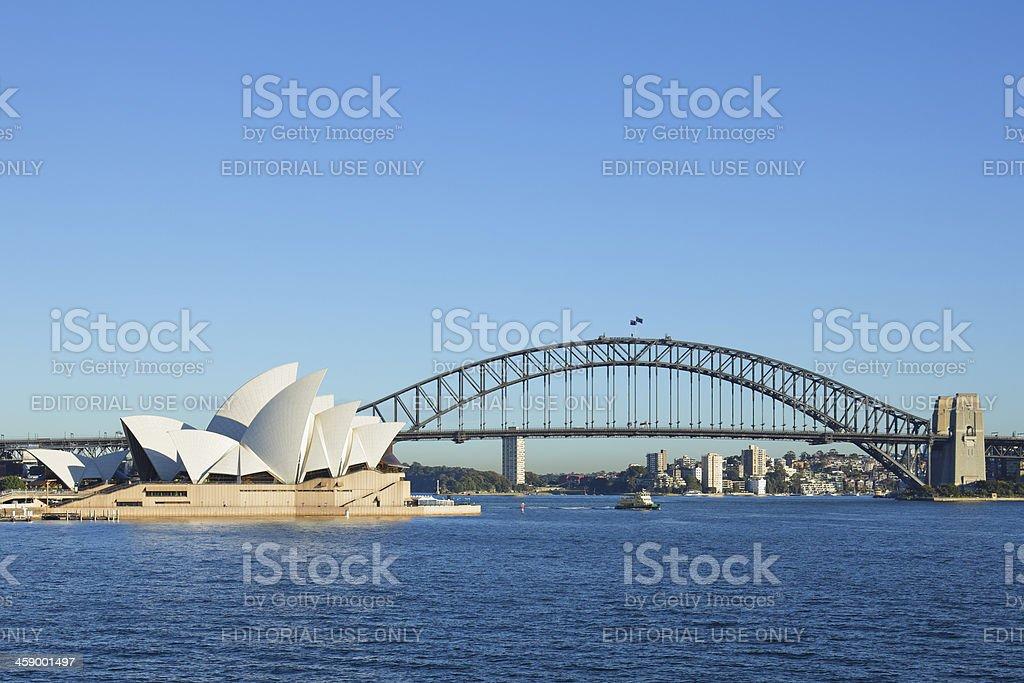 Sydney Opera House and the Harbor Bridge royalty-free stock photo
