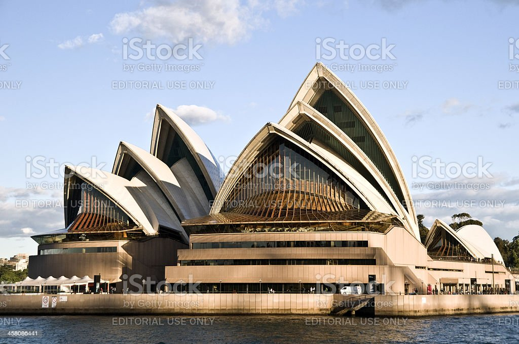 Sydney Opera House as seen from the water royalty-free stock photo