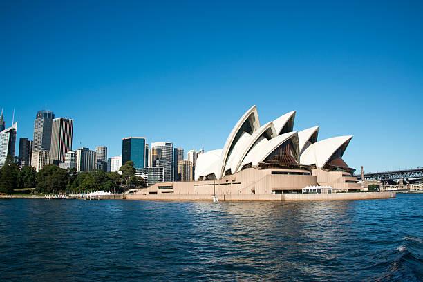 Sydney Opera House at Circular Quay, Australia stock photo