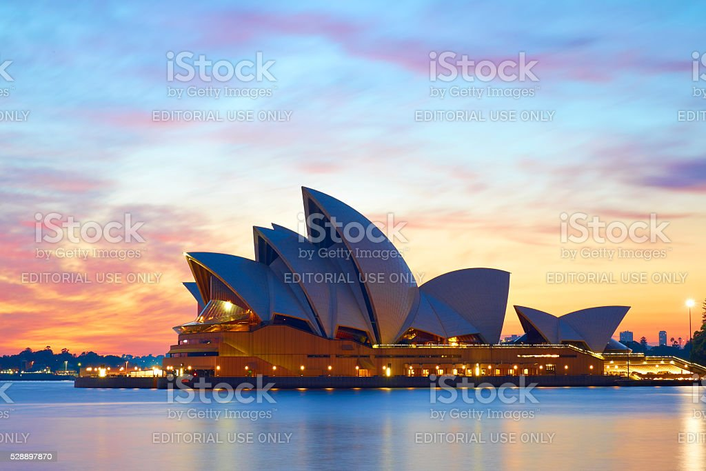 Sydney Opera House At Dawn stock photo