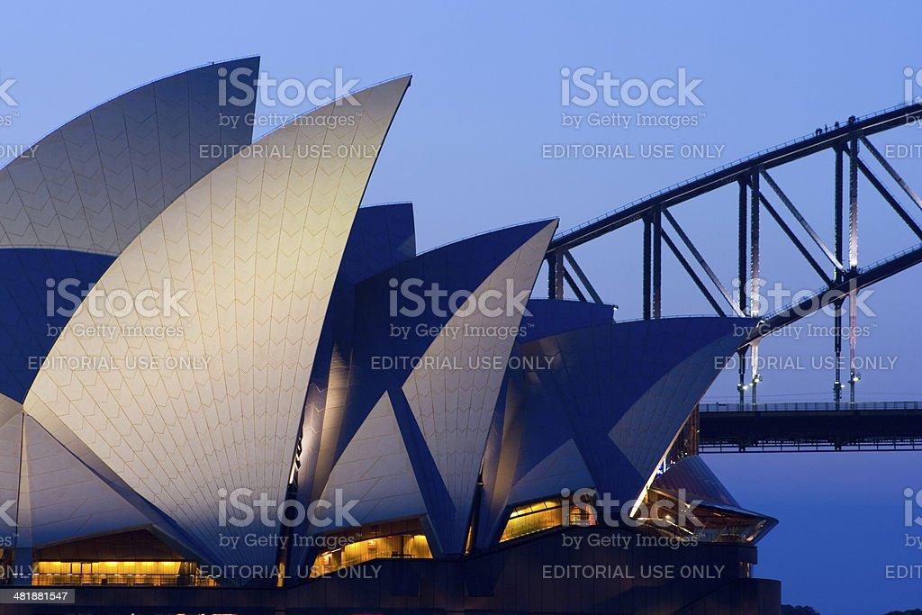 Sydney Opera House at Dusk stock photo