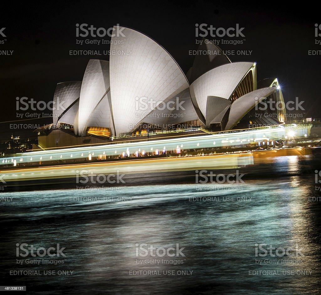 Sydney Opera House at night royalty-free stock photo