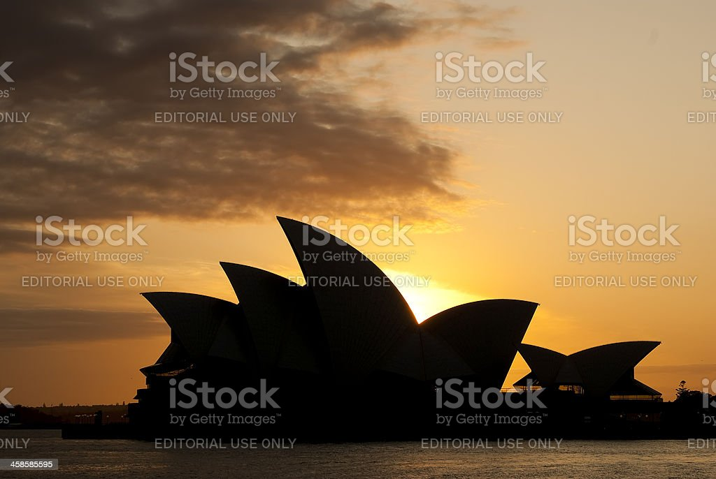 Sydney Opera House at sunrise royalty-free stock photo