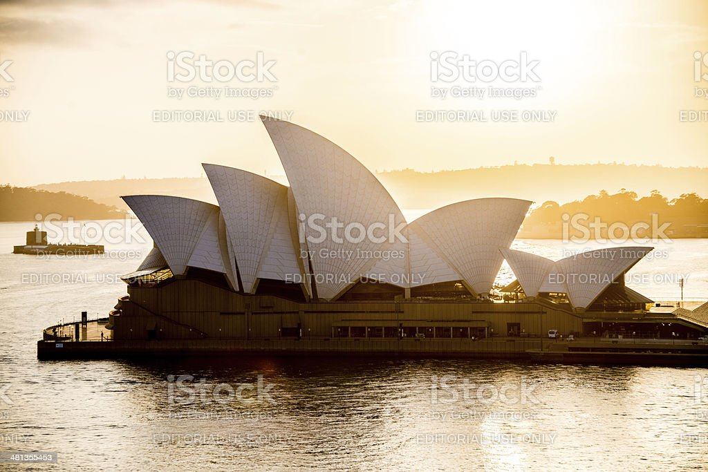 Sydney Opera House at sunrise stock photo