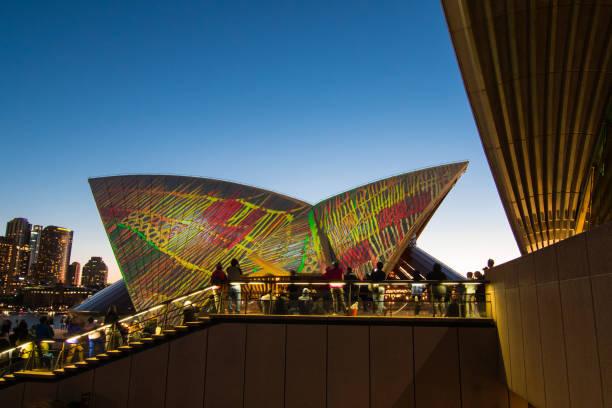 Sydney Opera House 'Badu Gili' Projection stock photo
