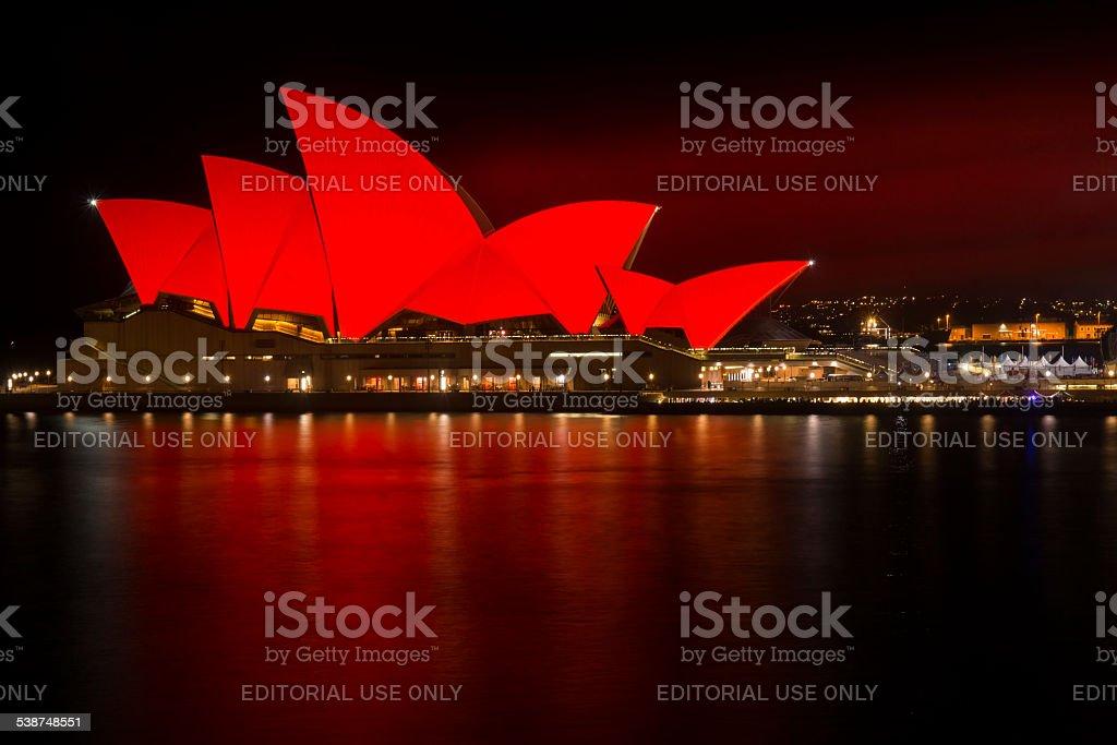 Sydney Opera House - Chinese New Year stock photo