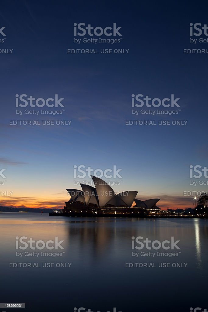 Sydney Opera House Dawn royalty-free stock photo