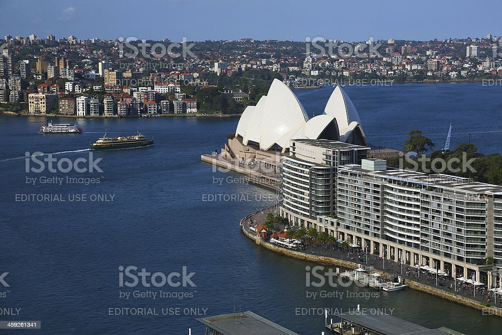 Sydney Opera House from high up royalty-free stock photo